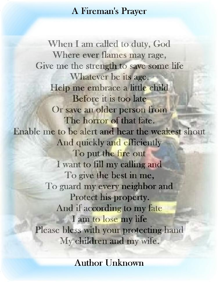 Firefighters+Prayersand+Poems ... ForestHill-/Firefighter-s-prayer ...